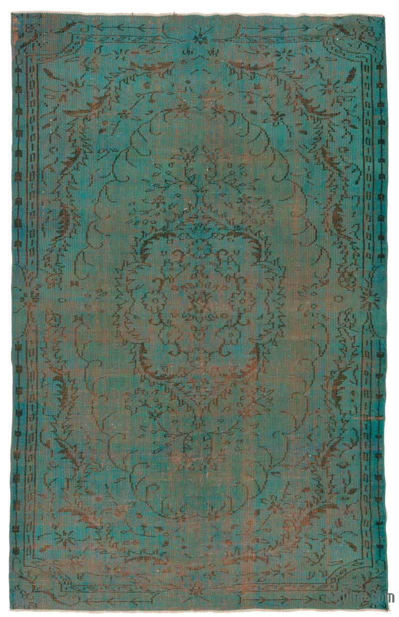 """Over-dyed Turkish Vintage Rug - 6'  x 9' 5"""" (72 in. x 113 in.) - K0030285"""