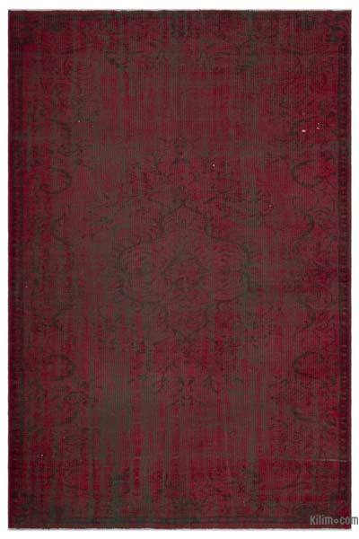 """Over-dyed Turkish Vintage Rug - 5' 11"""" x 8' 9"""" (71 in. x 105 in.)"""