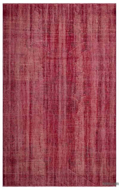 Alfombra Turca Vintage Sobre-teñida - 187 cm x 308 cm