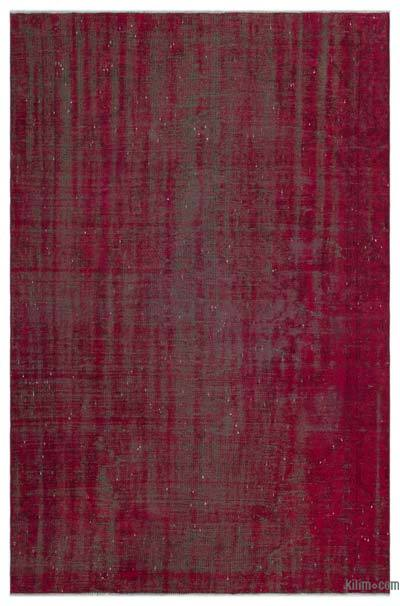 """Over-dyed Turkish Vintage Rug - 5'6"""" x 8'5"""" (66 in. x 101 in.)"""