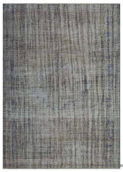 """Over-dyed Turkish Vintage Rug - 6' 3"""" x 8' 8"""" (75 in. x 104 in.)"""