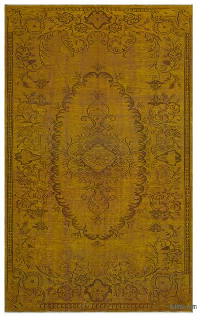 """Over-dyed Turkish Vintage Rug - 5'11"""" x 9'7"""" (71 in. x 115 in.)"""