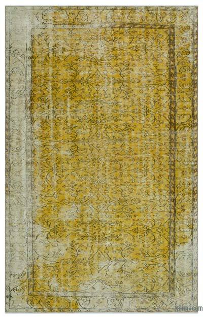 "Over-dyed Turkish Vintage Rug - 5' 5"" x 8' 7"" (65 in. x 103 in.)"