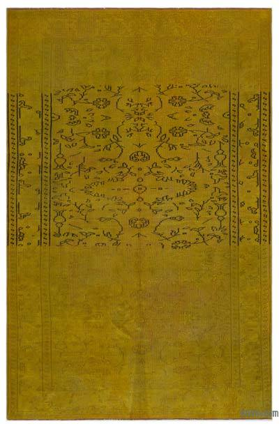 """Over-dyed Turkish Vintage Rug - 5'3"""" x 8' (63 in. x 96 in.)"""