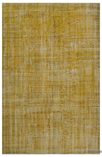 Boyalı El Dokuma Vintage Halı - 180 cm x 275 cm