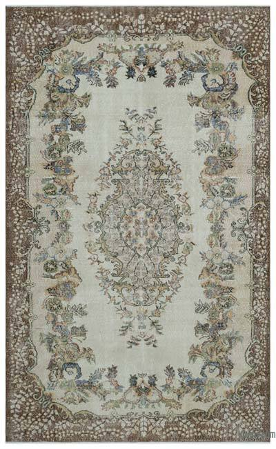 """Turkish Vintage Area Rug - 6'2"""" x 10'1"""" (74 in. x 121 in.)"""