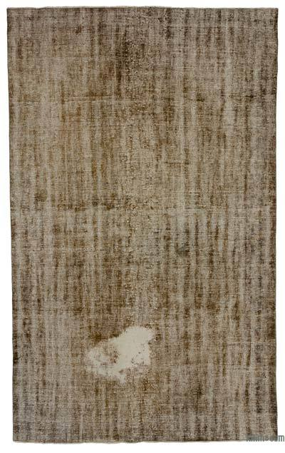 "Over-dyed Turkish Vintage Rug - 6' 4"" x 10'  (76 in. x 120 in.)"