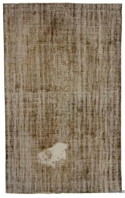 Boyalı El Dokuma Vintage Halı - 192 cm x 305 cm