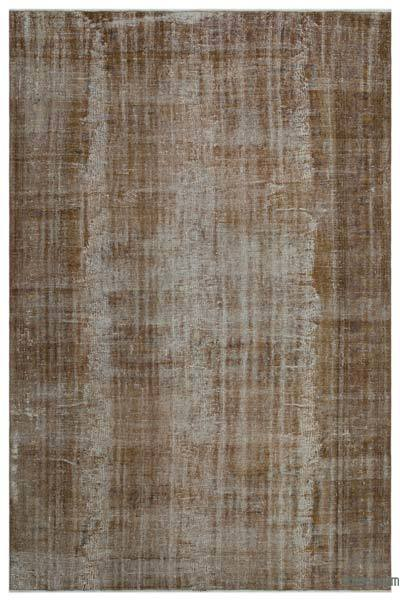 """Over-dyed Turkish Vintage Rug - 6'10"""" x 10'4"""" (82 in. x 124 in.)"""