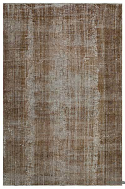 Boyalı El Dokuma Vintage Halı - 209 cm x 315 cm