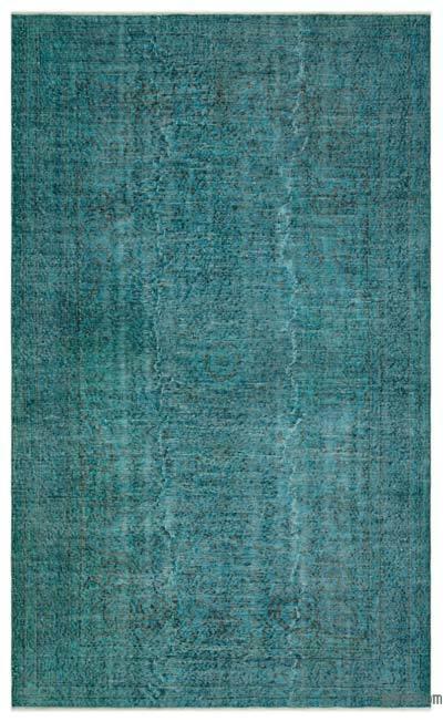 Boyalı El Dokuma Vintage Halı - 164 cm x 273 cm