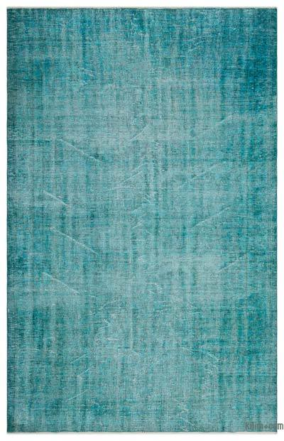 """Over-dyed Turkish Vintage Rug - 6'  x 9' 6"""" (72 in. x 114 in.)"""