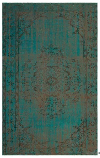 Alfombra Turca Vintage Sobre-teñida - 174 cm x 271 cm