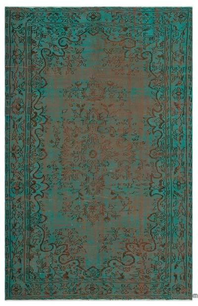 """Over-dyed Turkish Vintage Rug - 5'7"""" x 8'10"""" (67 in. x 106 in.)"""
