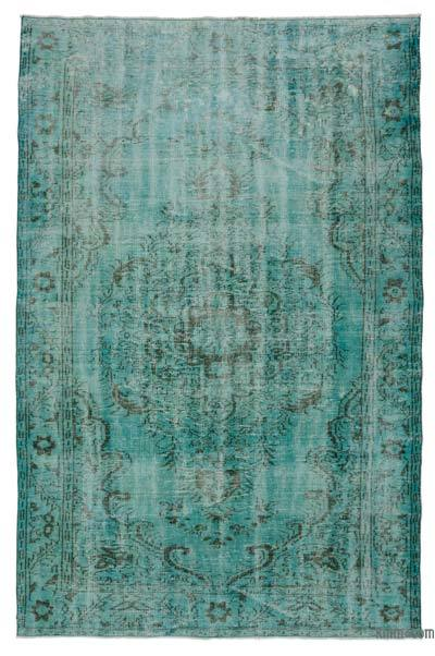 """Over-dyed Turkish Vintage Rug - 6' 2"""" x 9' 8"""" (74 in. x 116 in.)"""