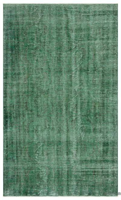 """Over-dyed Turkish Vintage Rug - 4'9"""" x 7'8"""" (57 in. x 92 in.)"""
