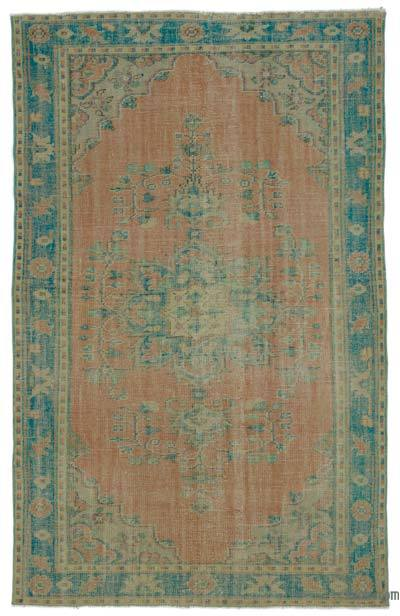 """Turkish Vintage Area Rug - 5' 7"""" x 8' 9"""" (67 in. x 105 in.)"""
