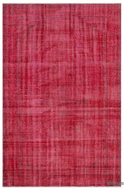 """Over-dyed Turkish Vintage Rug - 6' x 9'2"""" (72 in. x 110 in.)"""