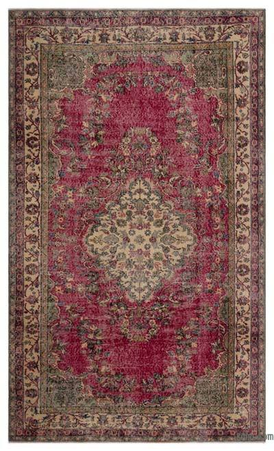 "Turkish Vintage Area Rug - 5' 3"" x 8' 11"" (63 in. x 107 in.)"