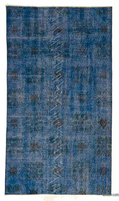 "Over-dyed Turkish Vintage Rug - 3' 9"" x 6' 9"" (45 in. x 81 in.)"