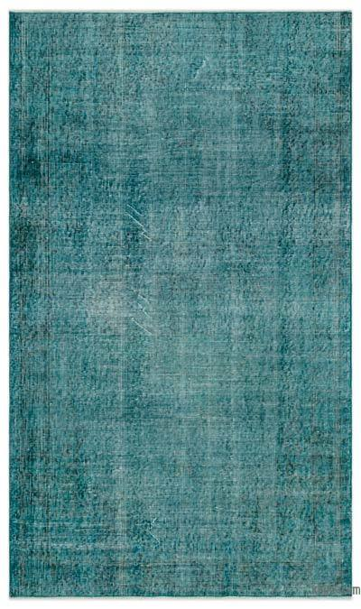 """Over-dyed Turkish Vintage Rug - 3'9"""" x 6'6"""" (45 in. x 78 in.)"""