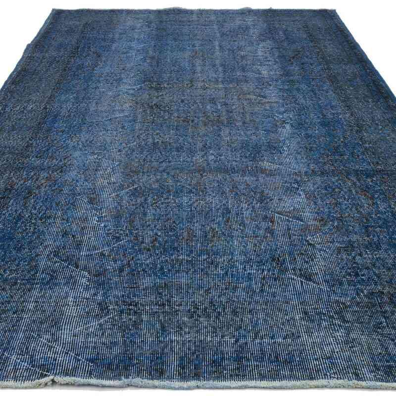 Azul Alfombra Turca Vintage Sobre-teñida - 165 cm x 284 cm - K0030532