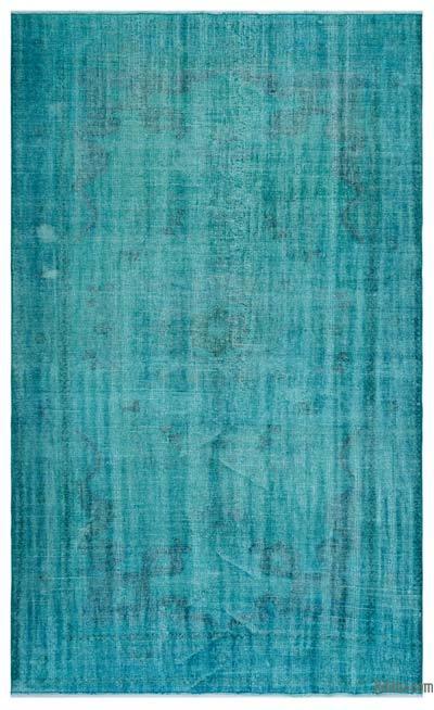 Boyalı El Dokuma Vintage Halı - 193 cm x 310 cm