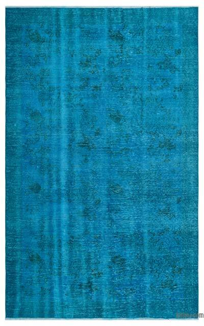 """Over-dyed Turkish Vintage Rug - 5' 11"""" x 9' 4"""" (71 in. x 112 in.)"""