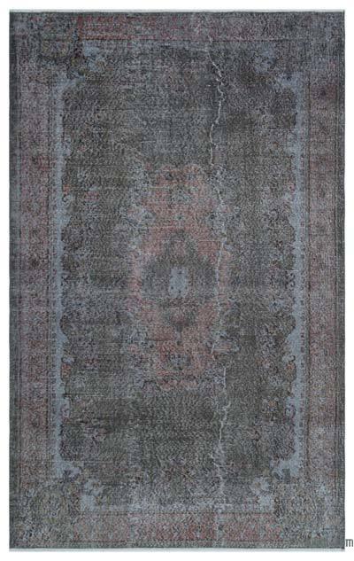 Boyalı El Dokuma Vintage Halı - 170 cm x 270 cm