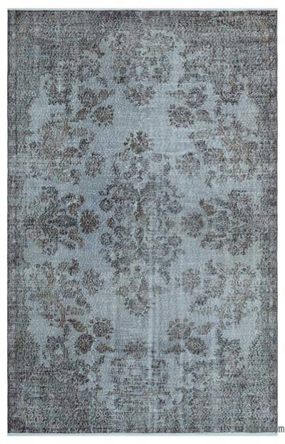 """Over-dyed Turkish Vintage Rug - 5'8"""" x 8'8"""" (68 in. x 104 in.)"""