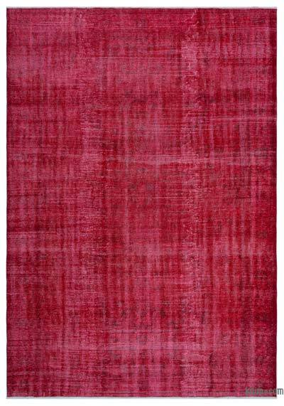 """Over-dyed Turkish Vintage Rug - 6'6"""" x 9'5"""" (78 in. x 113 in.)"""
