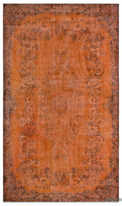 """Over-dyed Turkish Vintage Rug - 5'11"""" x 10'2"""" (71 in. x 122 in.)"""