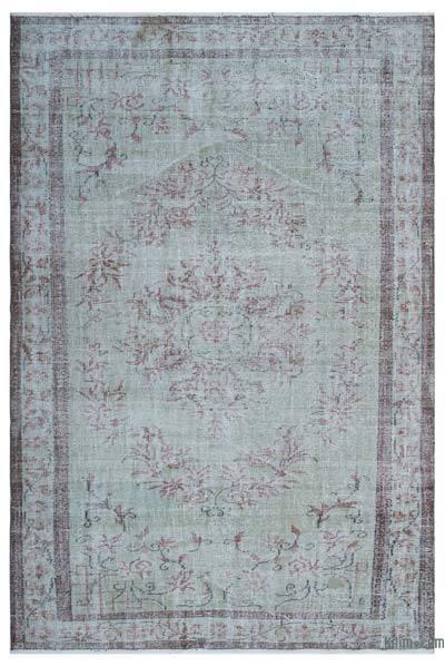 Boyalı El Dokuma Vintage Halı - 183 cm x 272 cm