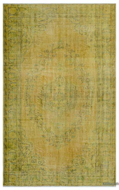 """Over-dyed Turkish Vintage Rug - 5'9"""" x 9'4"""" (69 in. x 112 in.)"""