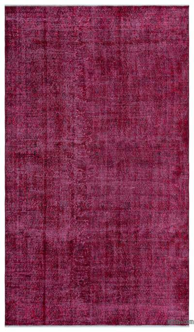 """Over-dyed Turkish Vintage Rug - 4'9"""" x 8'4"""" (57 in. x 100 in.)"""
