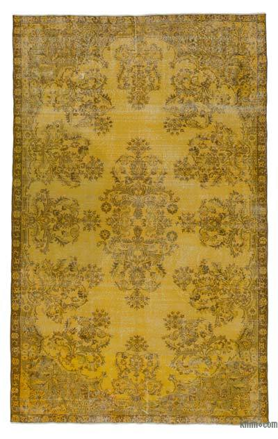 "Over-dyed Turkish Vintage Rug - 6' 4"" x 10' 1"" (76 in. x 121 in.)"