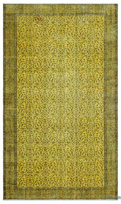 """Over-dyed Turkish Vintage Rug - 5' 6"""" x 9' 4"""" (66 in. x 112 in.)"""