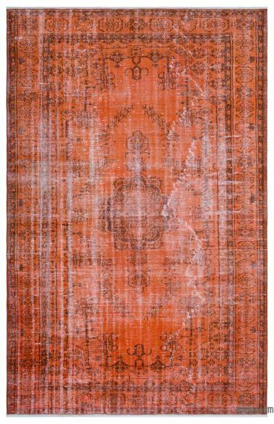Boyalı El Dokuma Vintage Halı - 178 cm x 280 cm