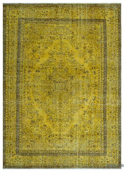 "Over-dyed Turkish Vintage Rug - 6'4"" x 8'9"" (76 in. x 105 in.)"