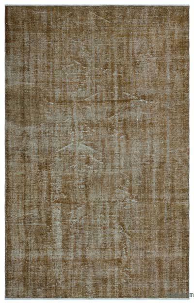 Boyalı El Dokuma Vintage Halı - 170 cm x 269 cm