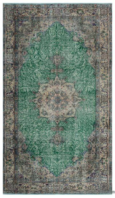 """Turkish Vintage Area Rug - 4' 8"""" x 8' 2"""" (56 in. x 98 in.)"""