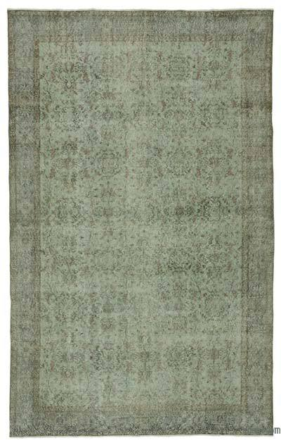 "Over-dyed Turkish Vintage Rug - 6' 1"" x 10'  (73 in. x 120 in.)"