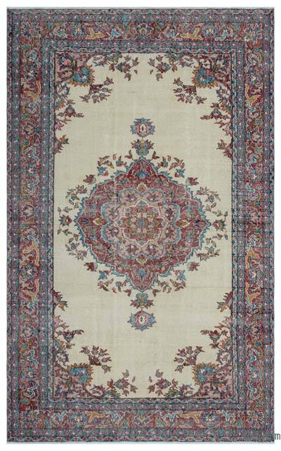 """Turkish Vintage Area Rug - 5'8"""" x 9'1"""" (68 in. x 109 in.)"""