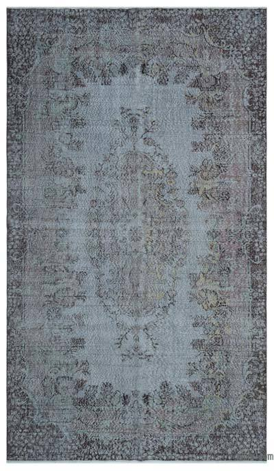 """Over-dyed Turkish Vintage Rug - 5'10"""" x 10'4"""" (70 in. x 124 in.)"""