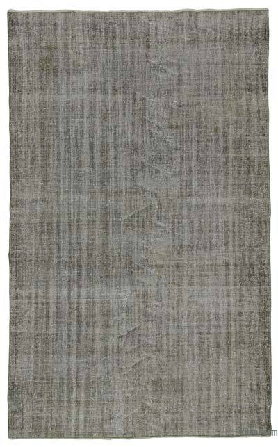 "Grey Over-dyed Turkish Vintage Rug - 5' 5"" x 8' 9"" (65 in. x 105 in.)"