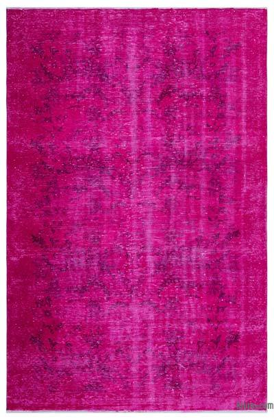 "Over-dyed Turkish Vintage Rug - 5'8"" x 8'9"" (68 in. x 105 in.)"