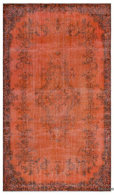 "Over-dyed Turkish Vintage Rug - 6'2"" x 10'7"" (74 in. x 127 in.)"