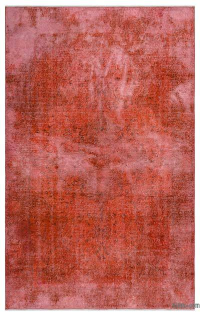 Alfombra Turca Vintage Sobre-teñida - 165 cm x 266 cm