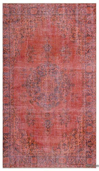 """Over-dyed Turkish Vintage Rug - 5'2"""" x 8'11"""" (62 in. x 107 in.)"""