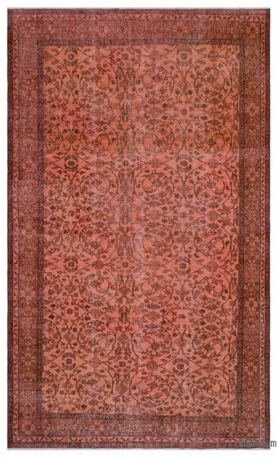 Boyalı El Dokuma Vintage Halı - 202 cm x 327 cm